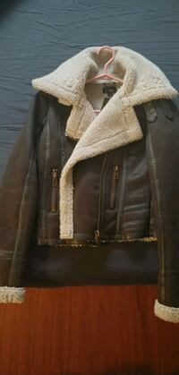 faux leather jacket from topshop never worn with p Vancouver