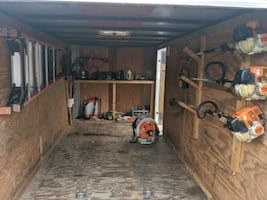 Lawn maintenance business equipment and trailer