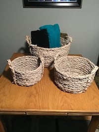 Seagrass baskets set of three London, N6J 1P4