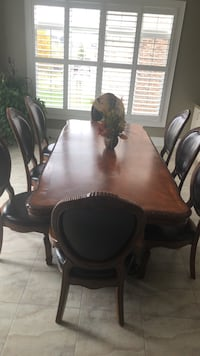 brown wooden dining table set Vaughan, L0J 3X3