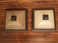 "Two 13"" Square Flush Mount Ceiling Lights Brighton"