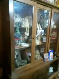 brown wooden framed glass display cabinet Eldersburg, 21784