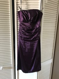 Purple spaghetti strap maxi dress