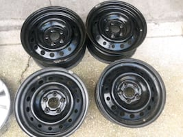 Rims with center caps