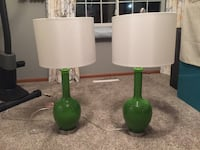 two green and white table lamps Ankeny, 50021