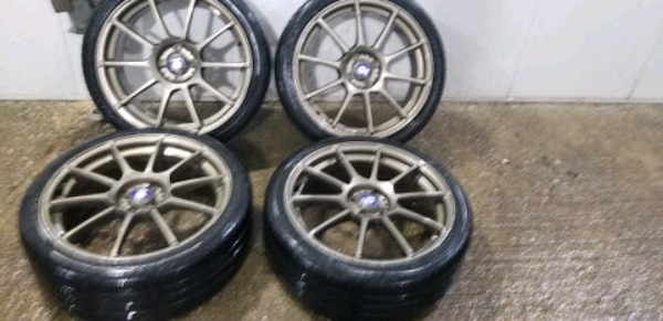 4  18in sparco wheels  4x100 rims and tires cd0dc72b-c838-43e8-a639-bbece15821fe