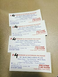 four Prestige Car Wash cards London, N6A 3G1