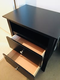 High quality black nightstand