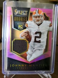 Browns Johnny Manziel Jersey card Paramount, 90723