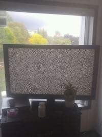 black and gray flat screen TV Vancouver, V5R 2C1