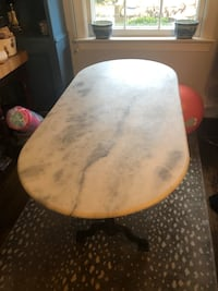 Marble table- from random Harvest in Georgetown Upperville, 20184
