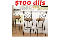 two brown metal framed brown padded chairs Mission, 78572