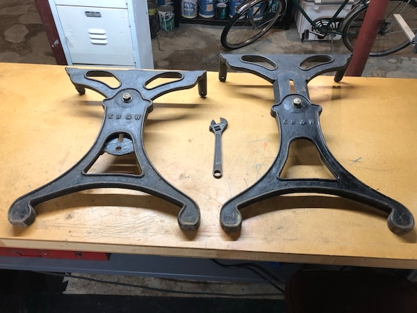 Used Vintage And Rare Cast Iron Table Legs For Sale In Wakefield