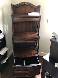 Brown wooden bookcase with file drawer on the bottom Bethesda, 20817