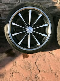 20x9 inch Vossen CV1 rims and tires.  Watsonville, 95076