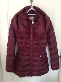 Burgundy down filled jacket. Beautiful, new condition 'Shelly segal' label.  Size small. $80. Ottawa, K1Y