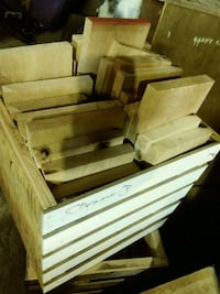 Crate of cherry wood
