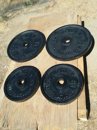 154Lbs of Olympic size weight plates  Downey, 90242