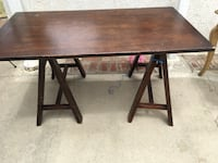 rectangular brown wooden table with two chairs Long Beach, 90804