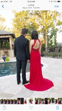 Women's red gown/prom dress Boutte, 70039