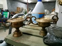 two brown-and-white table lamps Morristown, 37813