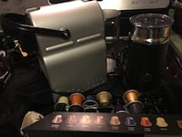 Nespresso coffee maker with pods and milk frother  Barrie, L4N 9M7