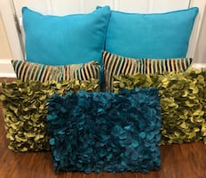 Green and Blue Decorative Pillows