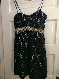 black and silver sequin spaghetti strap dress Mansfield, 44902