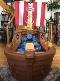 Like New Pirate Ship Toddler Bed with Tons of Extras Edmonton, T6H 3A8