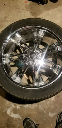 "22"" Rim's/tires  5 lug universal 4.5"" &5.5"" bolt patterns.all hold air Norfolk"