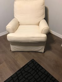 white leather padded sofa chair Jackson, 39272