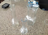 Three vases from a smoke free home 3114 km