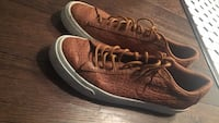 pair of brown leather low-top sneakers Toronto, M5E 1R4