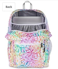 Brand new- JANSPORT Trans 17 inch Supermax Backpack - Tie Dizzle White