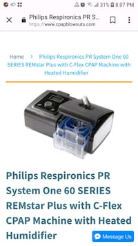 Philips cpap machine with heated humidifier. Toronto, M1R 2Z4