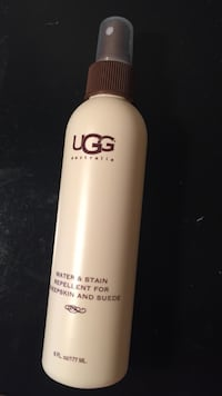 white and brown UGG water and stain repelelent for sheepskin and suede Howell, 07731