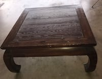Rectangular brown wooden coffee table with side table Fort Worth, 76179