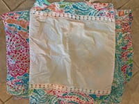 Lily Pulitzer twin/full duvet cover,pillow cover,cork board Franklin, 37064