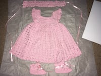 Beautiful welcoming home baby girl dress set WINCHESTER
