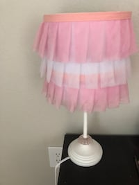 white and pink table lamp Austin, 78727