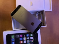 space gray iPhone 5s with white box
