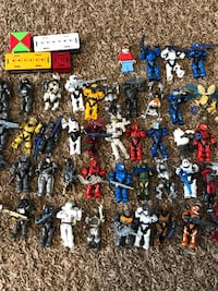 assorted color of plastic toy lot