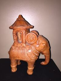 brown ceramic elephant Mughal hunting expedition sculpture Calgary, T3E 6L9