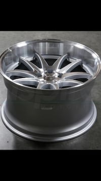 19x9.5 or 11 new machine silver rims set  5x100 5x114.3