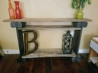 Reclaimed wood console table