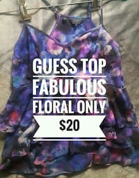 """GUESS"" Small Floral Shirt ONLY$15! London, N5V 2C9"