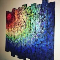 5panel painting of abstract painting Alexandria, 22314