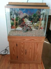 brown wooden framed fish tank Greeley, 80634