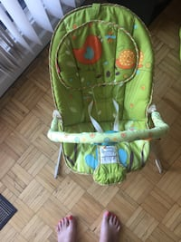 baby's green and blue bouncer Mississauga, L5A 3X1