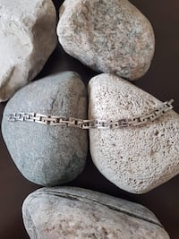 "925 STERLING SILVER BRACELET!   7.5"" LONG! Burlington"